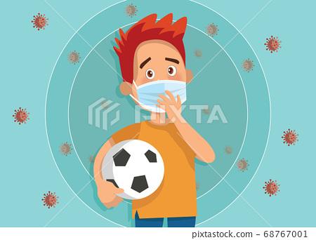 Vector Illustration of  children wear a medical 68767001