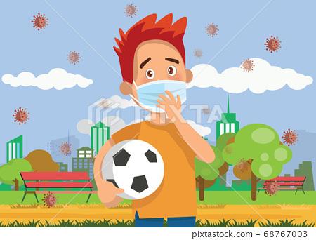 Vector Illustration of  children wear a medical 68767003