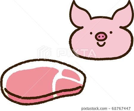 豬肉和豬 68767447
