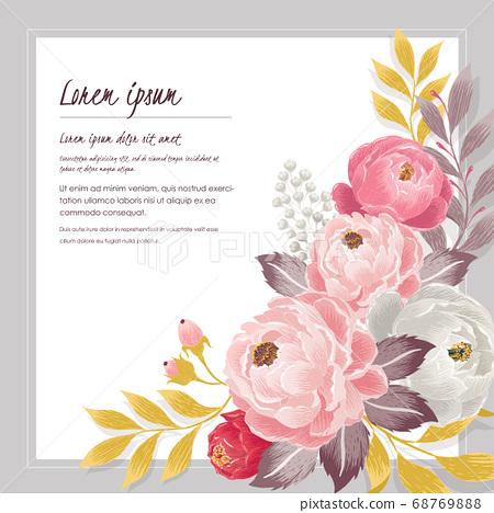 Vector illustration of a floral frame in spring 68769888