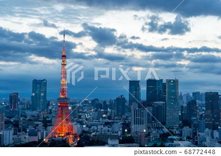 從東京都港區濱松町看的東京城市景觀 68772448