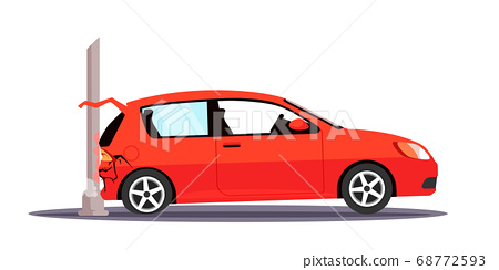 Vector character illustration traffic accident 68772593