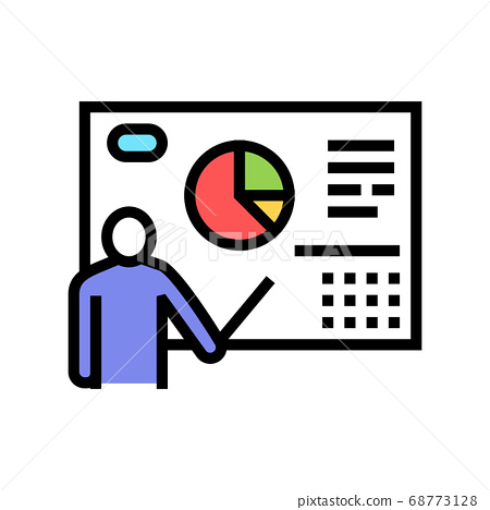 businessman presentation color icon vector illustration 68773128