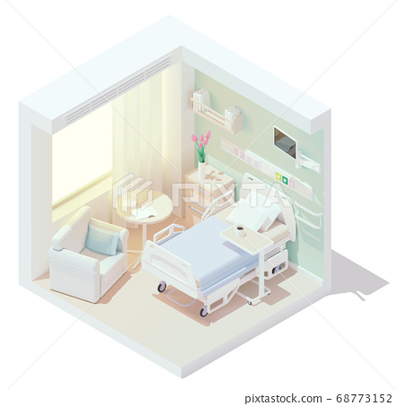 Vector isometric cozy hospital room 68773152