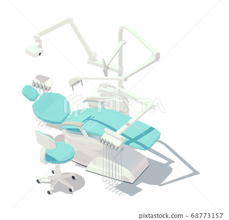 Vector isometric low poly dental chair 68773157