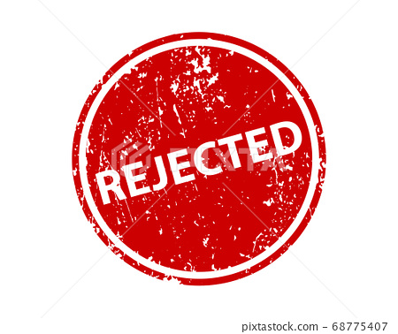 Rejected stamp vector texture. Rubber cliche 68775407