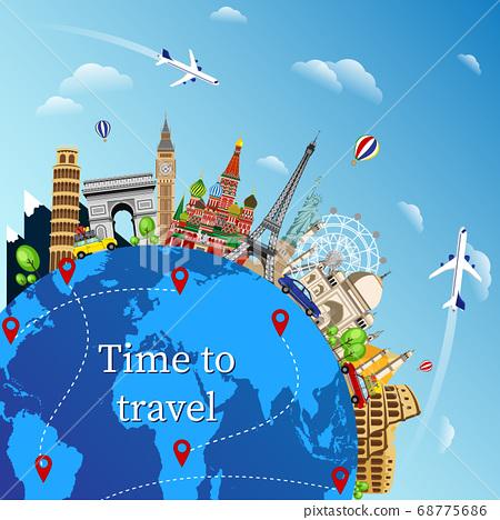 Travel around the world 68775686