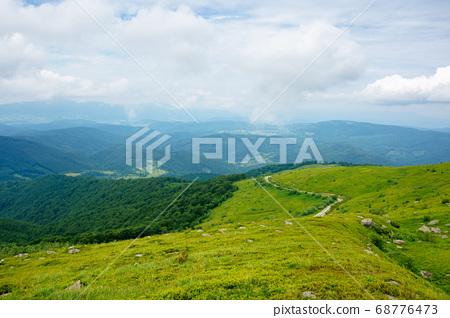 summer landscape of runa mountain. grassy hills of 68776473
