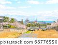 Cherry trees and Ashiya cityscape 68776550