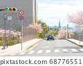 Cherry trees and Ashiya cityscape 68776551