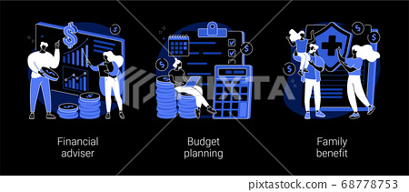 Money management abstract concept vector illustrations. 68778753