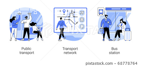 Urban transportation abstract concept vector illustrations. 68778764