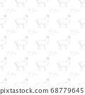 Lama seamless pattern. 68779645