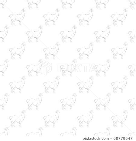 Lama seamless pattern.  68779647