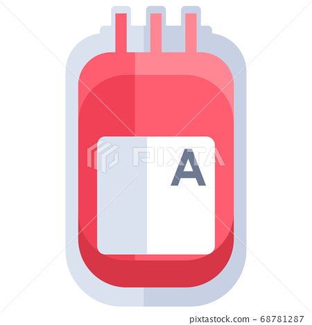 Blood pack on white isolated backdrop for medical 68781287