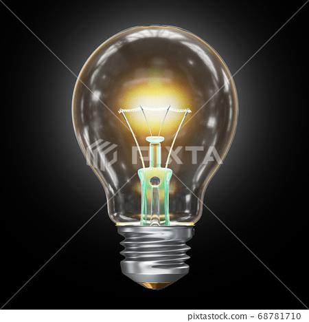 Light bulb 3D 68781710