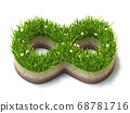 Infinity sign made of grass 3D 68781716