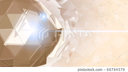 Abstract polygonal sphere on triangular BG space 68784379