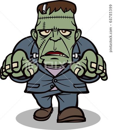 Frankenstein's monster walking [2 heads/black] 68785399