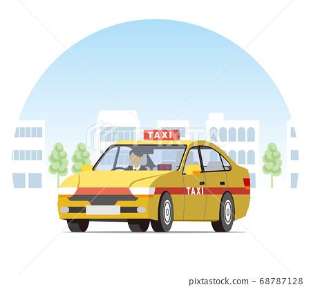 轎車在城市中行駛,業務運營,調度,空車 68787128