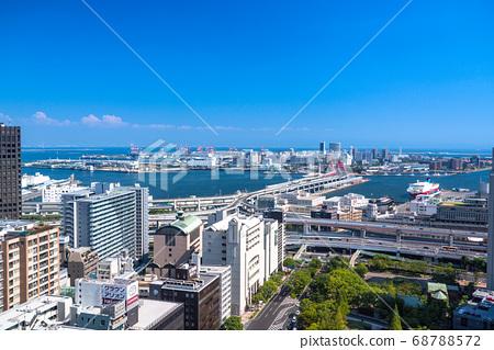 《兵庫縣》從神戶市市區三宮看港口島 68788572