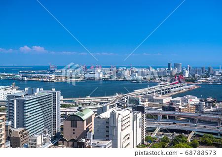 《兵庫縣》從神戶市市區三宮看港口島 68788573