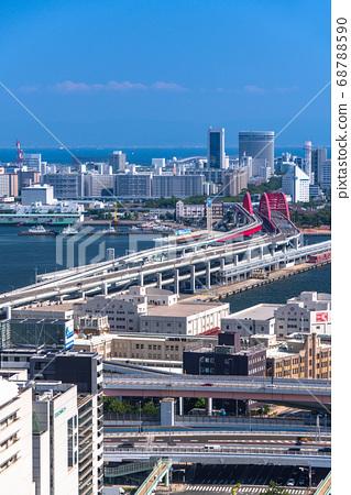《兵庫縣》從神戶市市區三宮看港口島 68788590