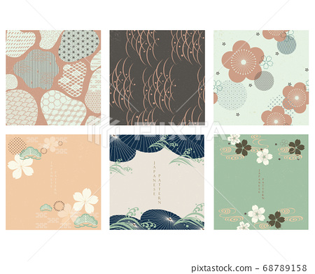 Japanese template vector. Geometric background. 68789158