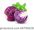 red cabbage isolated on white  background 68790628