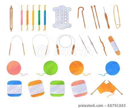 編織插圖素材/模擬風格 68791883