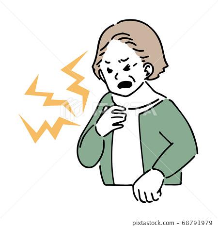 老人胸痛圖 68791979