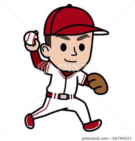 棒球選手_投手 68794031