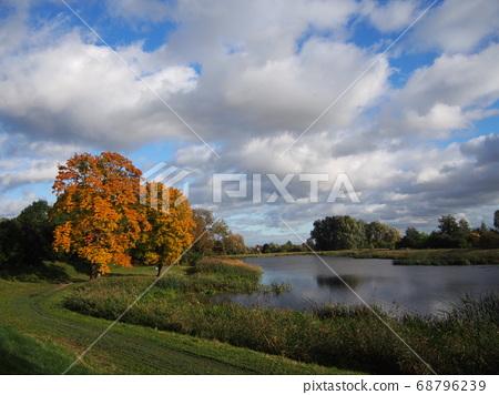 波蘭格但斯克河沿岸的秋色 68796239