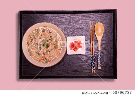 Rice porridge with octopus shrimp 68796755
