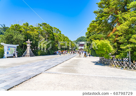 [가나가와 현] 가마쿠라 활짝 갠 쓰루 오카 하치만 구의 모토와 마이 전 68798729