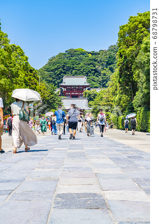 [가나가와 현] 가마쿠라 활짝 갠 쓰루 오카 하치만 구의 모토와 마이 전 68798731