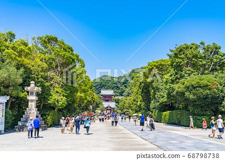[가나가와 현] 가마쿠라 활짝 갠 쓰루 오카 하치만 구의 모토와 마이 전 68798738