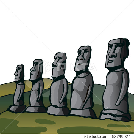 Easter Island. Stone idols. 68799024