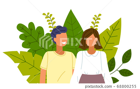 Happy couple smiling and laughing together embracing and touching tenderly. Health care concept 68800255