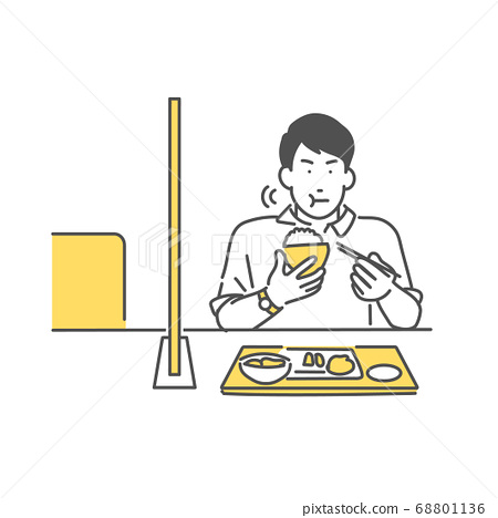 在防止日冕感染的餐厅用餐 68801136