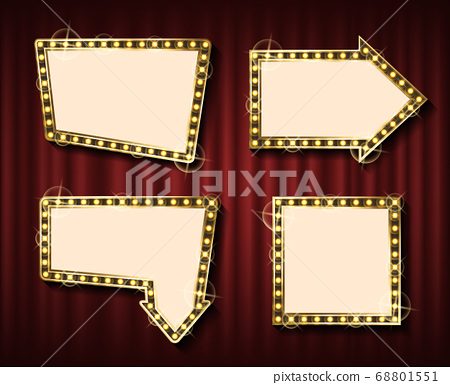 Blank Frame with Lamps, Theater Curtain Backdrop 68801551