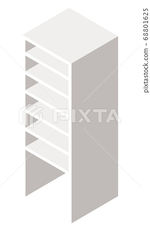 White Wooden Cupboard or Bookcase Vector Image 68801625