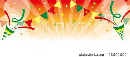 화려한 임팩트있는 파티 풍의 붉은 배경 일러스트 68802092