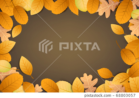 Abstract background autumn dry leaf falling 68803057