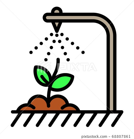 Smart irrigation icon, outline style 68807861