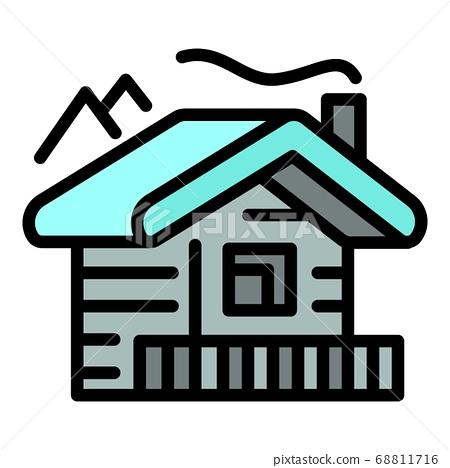 Mountains cabana icon, outline style 68811716