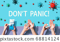 Dont Panic theme with person washing their hands 68814124