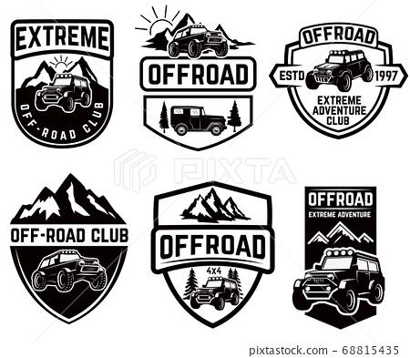 Set of four off-road suv car emblems. Extreme 68815435
