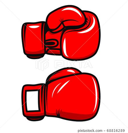 Boxing gloves isolated on white background. Design 68816289