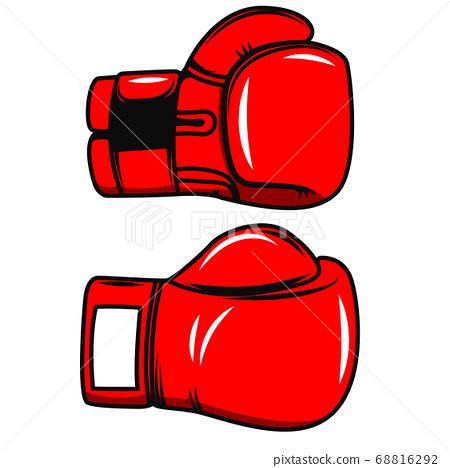 Boxing gloves isolated on white background. Design 68816292